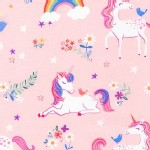 Robert Kaufman Fabrics - Happy Little Unicorns - Unicorn in Pink