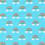 Robert Kaufman Fabrics - Happy Little Unicorns - Rainbows in Blue