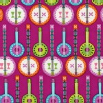 Robert Kaufman Fabrics - Jazz Between Friends - Banjo in Sweet
