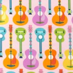 Robert Kaufman Fabrics - Jazz Between Friends - Guitar in Sweet