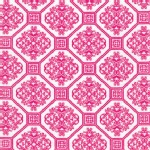 Robert Kaufman Fabrics - Laguna Jersey Prints - Tile Damask in Pink