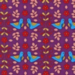 Robert Kaufman Fabrics - Little Kukla - Partridge Love in BRIGHT