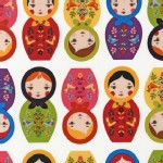 Robert Kaufman Fabrics - Little Kukla - Dolls in BRIGHT
