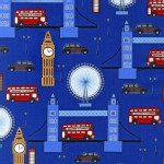 Robert Kaufman Fabrics - Next Stop London - Tower in Blue