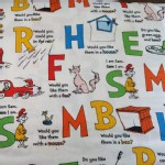 Robert Kaufman Fabrics - RK Kids - Cat In The Hat - Alphabets in White