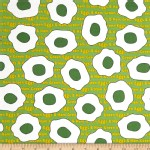 Robert Kaufman Fabrics - RK Kids - Cat In The Hat - Green Eggs and Ham in Green