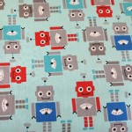 Robert Kaufman Fabrics - RK Kids - Robots in Blue