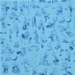 Robert Kaufman Fabrics - RK Kids - Diary of a Wimpy Kid Toss in Blue