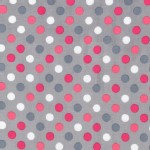 Robert Kaufman Fabrics - Spot On - Dots in Silver