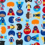 Robert Kaufman Fabrics - Super Kids - Adventure in Blue