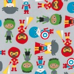 Robert Kaufman Fabrics - Super Kids - Adventure in Gray