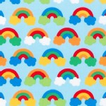 Robert Kaufman Fabrics - Wonder - Rainbows in Bright
