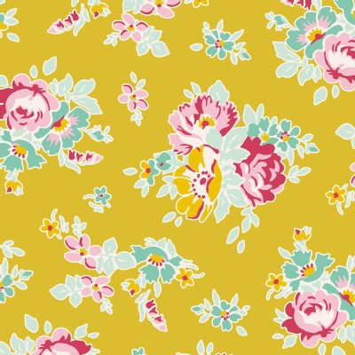Tilda Fabrics - Apple Butter - Sue in Mustard