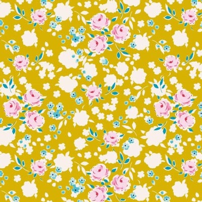 Tilda Fabrics - Apple Butter - Bonnie in Mustard