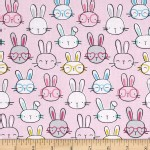 Timeless Treasures - Kids - Cutie Pie Bunny in Pink