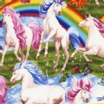 Timeless Treasures - Novelty - Unicorns and Rainbows in Rainbow