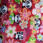 Trans Pacific Textiles - TPT - Panda Play in Red