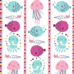 Windham Fabrics - Ahoy Matey - Fish Stripe in Pink
