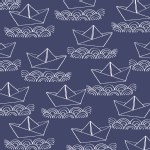 Windham Fabrics - Ahoy Matey - Sailboat in Navy