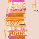 Windham Fabrics - Far Far Away - Princess and the Pea in Pink
