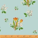 Windham Fabrics - Kinder - Spring Blooms in Pale Blue