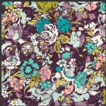 Art Gallery Fabrics - Bespoken - Millefiori in Dark