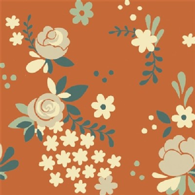 Birch Fabrics - Fort Firefly - Rose Garden in Coral