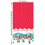 Michael Miller Fabrics - Holiday - Holly Jolly Gnomes Border in Red