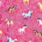 Michael Miller Fabrics - Kids - Pretty Ponies in Pink