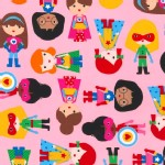 Robert Kaufman Fabrics - Super Kids - Adventure in Pink