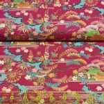 Trans Pacific Textiles - TPT - Year of Dragon - Hills in Red